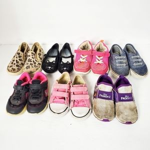 Bundle of toddler girls size 8c sneakers shoes